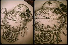 A person can easily get creative when choosing clock tattoos as they come in different kinds, such as grandfather clocks, analog clocks, hourglass, alarm clocks, wrist and pocket watches. Description from pinterest.com. I searched for this on bing.com/images