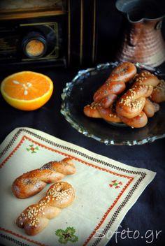 Κουλουράκια πορτοκαλιού με στέβια
