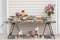 Incredible kitchen tea dessert table and drinks station Rustic Wedding Showers, Wedding Arch Rustic, Bridal Shower Rustic, Bridal Shower Tables, Bridal Shower Party, Unique Cake Toppers, Wedding Cake Toppers, Wedding Cakes, Party Wedding