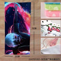 tokyo ghoul Ken Kaneki Anime Manga Badetuch Handtuch 70x35cm Neu