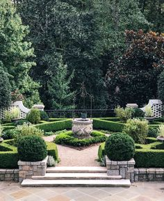 Three Perspectives on Woodland Gardening – A charming knot garden and pool area share a bluestone terrace hugging the house. Source by PrivateNewport Landscape Design, Garden Design, Birmingham Botanical Gardens, White Picket Fence, Garden Images, Woodland Garden, Formal Gardens, Garden Club, Horticulture