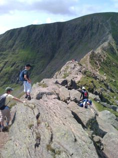 Striding Edge, Helvellyn - with my two sons July 2009 Lake District, Great View, Lakes, Four Square, Sons, Mountains, Travel, Viajes, Bergen