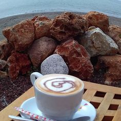 Relaxing cup! #coffee #sea #promenade #beach #Malaga #relax #sundaymorning