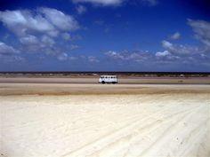 VW Bus on an Amazon Beach by Jeff Wheeland
