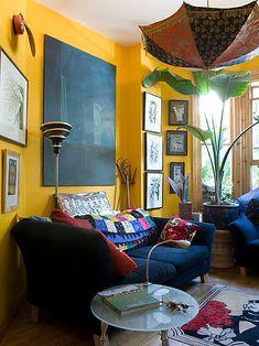 Lass Die Sonn Rein! Tolle Ideen Für Deine Wandgestaltung In Gelb.