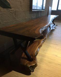 Wood Slab Table, Wood Buffet, Wooden Door Design, Wooden Doors, Wooden Tv Stands, Tv Wall Decor, Resin Furniture, Wooden Projects, Wood Lamps
