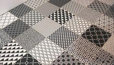 Picasso Monochrome Patchwork Tiles - Alhambra Home & Garden Picasso, Contemporary Tile, Garden Tiles, Patchwork Tiles, Traditional Tile, Apartment Interior, Boat Interior, Interior Ideas, Kitchen Wall Tiles
