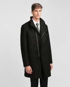 COAT WITH ASYMMETRIC FASTENING-Coats-Outerwear-MAN | ZARA United States