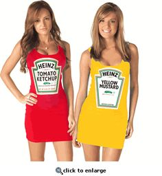 heinz ketchup mustard juniors tunic tank dress cute halloween costumeshalloween - Cute Bff Halloween Costumes