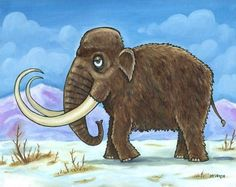 Items similar to Woolly Mammoth on Etsy The Wooly, Science Projects, Large Prints, Elephant, Ice Age, Etsy, Animals, History, Animaux