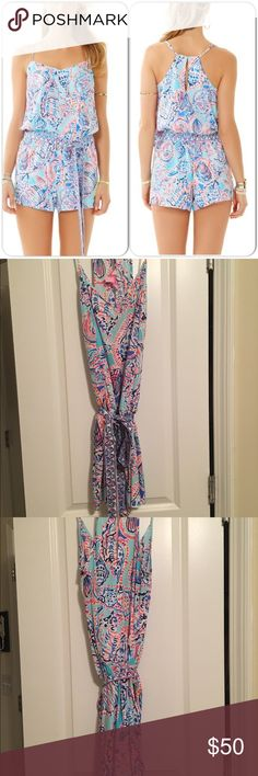 Lilly Pulitzer Romper Only worn twice, smoke and pet free home, size medium, super comfortable Lilly Pulitzer Other