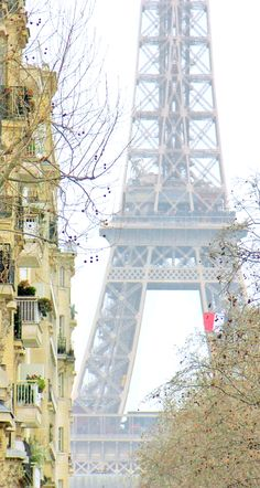 A view of the Eiffel Tower from place de Breteuil in the 7th arrondissement... Winter in Paris is beautiful isn't it? #Paris #VisitParis #WinterinParis