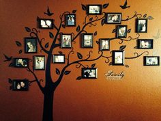 Family tree on the wall...how cute