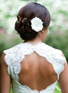 love the cutout backs, and matching white piece in hair