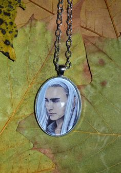 Huge pendant  Smiling King Thranduil elven jewellery by JankaLart