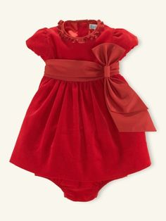 The perfect Christmas dress for a infant!   Corduroy Party Dress  Ralph Lauren