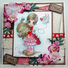 OOAK Handmade Greeting Card Love by PopsCards on Etsy, $6.00