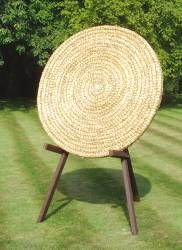 Coiled straw mat archery target