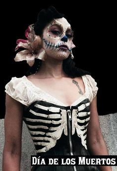 Day Of The Dead. Love the idea of using lace.