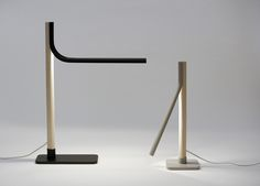 Lighting, made from minimal materials including half pipe and woodstock make for a simple and effective table lamp. By designer Sami Kallio