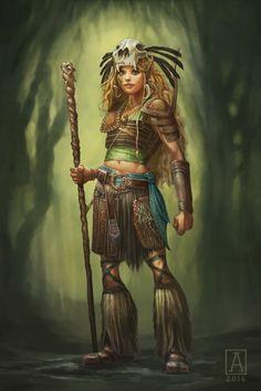 Kaaovale, Wild Elven Druid by Smolin on DeviantArt