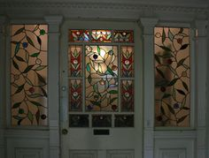 Victorian frosted glass leadlight front door