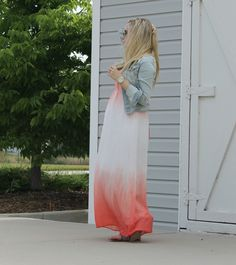 maternity style, ombre dress, heritwine maternity, pregnancy style, dressing the bump