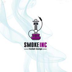 Hookah «SMOKE.inc». Version of the logo.