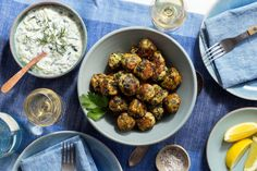 Inspired by the flavors of the classic Greek spanakopita (meatballs), this gluten-free meatball recipe is great as a main course, tucked inside a pita for a sandwich, or rolled small for an easy appetizer with tzatziki as a dip. Meatball Recipes, Beef Recipes, Chicken Recipes, Healthy Recipes, Clean Recipes, Recipies, Healthy Eating Tips, Clean Eating, Gluten Free Meatballs