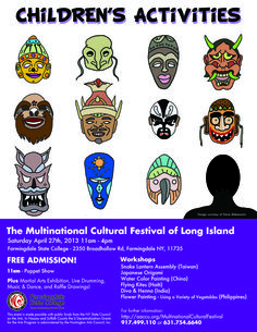 2013 - Multinational Cultural Festival of NY, children's flyer
