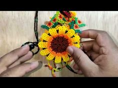 COLLAR GIRASOL EN MOSTACILLA. PARTE 1 - YouTube Bracelet Crafts, Beading Tutorials, Seed Beads, Jewerly, Mandala, Diy Crafts, Youtube, Earrings, Bead Animals