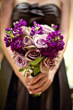 """PURPLE!! I love purple.  I love Scott even more for allowing this to be the main color of our wedding.  It will be a """"manly"""" purple haha."""