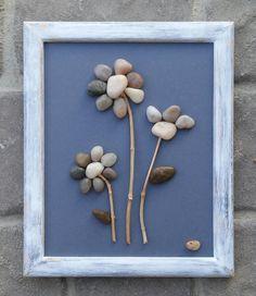 Pebble Art Rock Art Pebble Art Flowers Rock Art Flowers