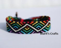 Items similar to Rainbow Friendship Bracelet / Embroidery Floss Jewelry / on Etsy