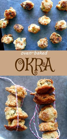 Baked Okra - This is a healthier option to the Fried okra recipe - It is very easy to make and a perfect snack.  Consider this an alternative to chips and dip.