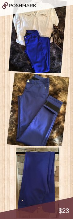 Royal blue Skinny Jeans Celebrity Pink Skinny Jeans in a beautiful royal blue color.  The inside lining is black, great if you are rolling them up.  There are no stains, tears, or fraying at the bottom.  Only been worn a couple of times. Celebrity Pink Jeans Skinny