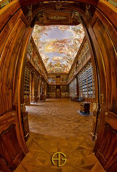 Baroque library of Strahov Monastery, Prague, Czech Republic