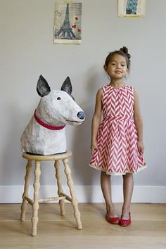Dog - papier mâché Origami, Paper Art, Paper Crafts, English Bull Terriers, Paperclay, Girls Boutique, Summer Kids, Projects For Kids, Lany