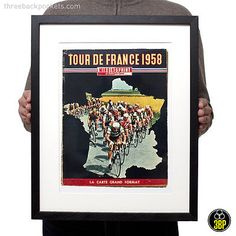 1958 tour de france magazine cover art #retro #vintage #cycling velo poster print, View more on the LINK: http://www.zeppy.io/product/gb/2/252279715318/