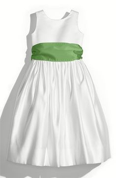 Us Angels satin sash in clover green