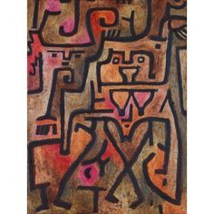 Forest Witches 1938 Canvas Art - Paul Klee (24 x 36)