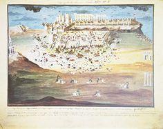 Οι εικόνες του Μακρυγιάννη - Μάχη πρώτη των Αθηνών.Πρόκειται περί της εικόνας Ν0. 10 του λευκώματος της Εθνικής Τραπέζης με αντικείμενο την πρώτη μάχη των Αθηνών και την πολιορκία της Ακροπόλεως από τους Έλληνες. Ζωγραφίστηκε από τον Παναγιώτη Ζωγράφο καθ΄υπόδειξη του Μακρυγιάννη μεταξύ 1836-1839