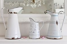 French Enamel Pitchers...I Talked About These In Another Guide. Click On The Photo To Read More.