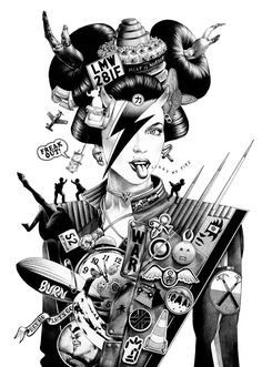 "asylum-art: "" shohei otomo Ballpoint Pen Illustrations by shohei otomo (aka hakuchi) is an illustrator based in tokyo. after graduation from tama art university, he quickly developed a personal style,. Japanese Pop Art, Japanese Artists, Traditional Japanese, Tachisme, Desu Desu, Ballpoint Pen Drawing, Pen Illustration, Graphic Illustrations, Arte Tribal"