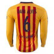 15b21c908 FC Barcelona 2015-16 Season DANI ALVES 6 LS Away Soccer Jersey Barcelona  Jerseys