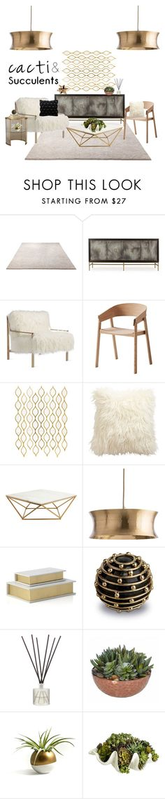 """Golden modern"" by faithisabelle ❤ liked on Polyvore featuring interior, interiors, interior design, home, home decor, interior decorating, ESPRIT, Andrew Martin, Axel and Muuto"