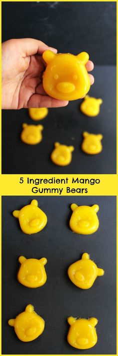 Five Ingredient Mango Gummy Bears