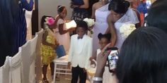 PHOTOS from Toolz & Tunde Demurens white wedding today in Dubai
