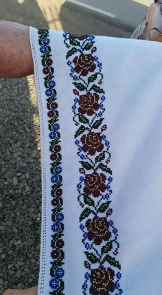 Cross Stitch Art, Cross Stitch Patterns, Palestinian Embroidery, Hand Embroidery Designs, Afghanistan, Floral Tie, Crochet, Fashion, Vestidos