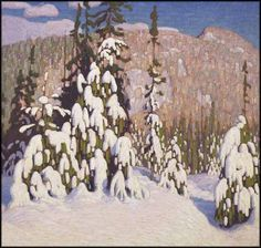 """Winter Landscape,"" Lawren Stewart Harris, oil on canvas, 47 1/2 x 50"", private collection."